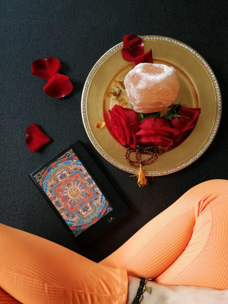dnevnik vrtnice joga podloga joga lotos mala ogrlica